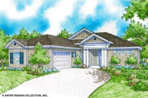 Classical Exterior - Front Elevation Plan #930-370