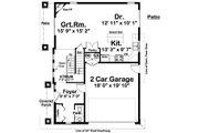 Prairie Style House Plan - 3 Beds 3 Baths 1927 Sq/Ft Plan #126-225 Floor Plan - Main Floor