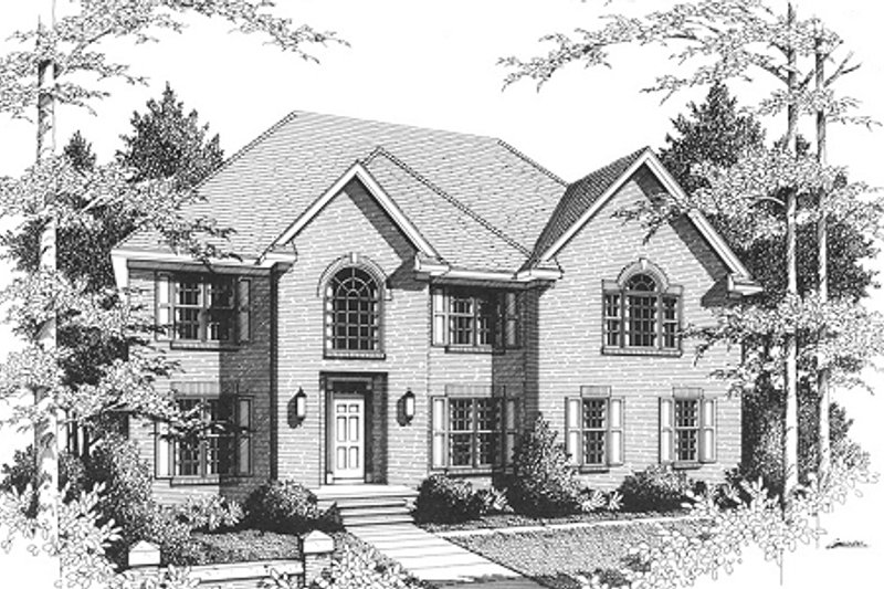 European Exterior - Front Elevation Plan #10-203