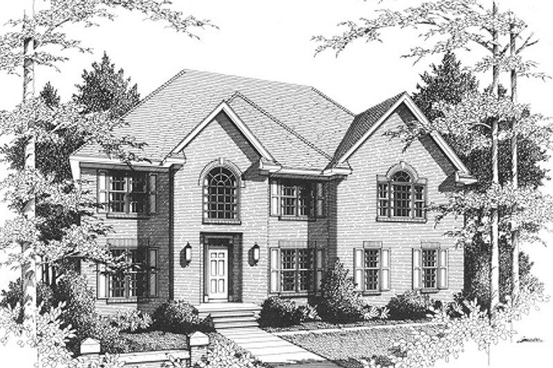 Dream House Plan - European Exterior - Front Elevation Plan #10-203