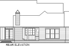 Farmhouse Exterior - Rear Elevation Plan #1074-3
