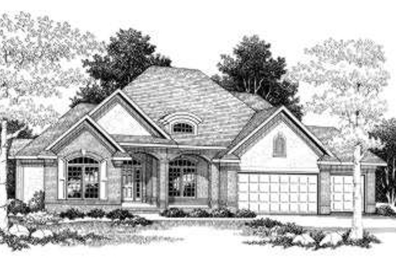 Traditional Exterior - Front Elevation Plan #70-772 - Houseplans.com
