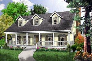 House Design - Farmhouse Exterior - Front Elevation Plan #40-163