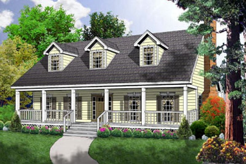 Farmhouse Exterior - Front Elevation Plan #40-163 - Houseplans.com