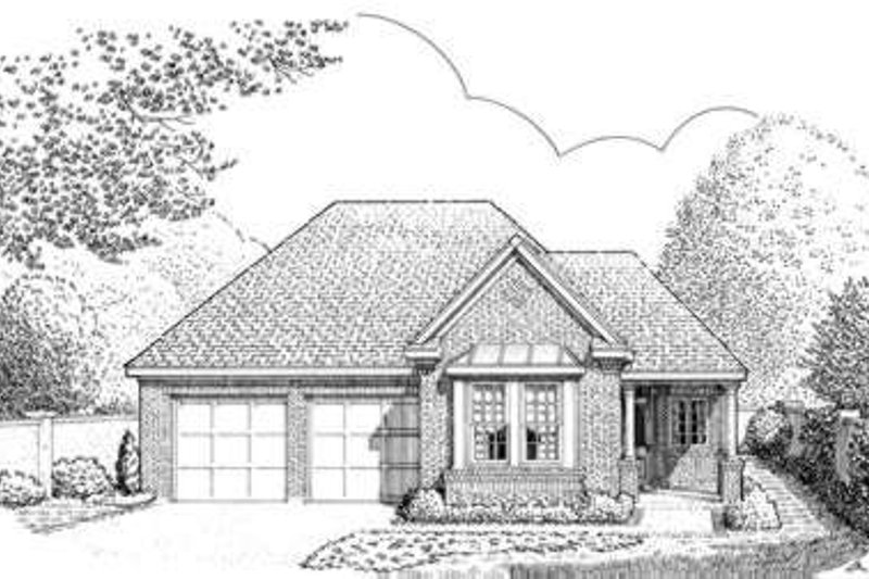 European Exterior - Front Elevation Plan #410-340