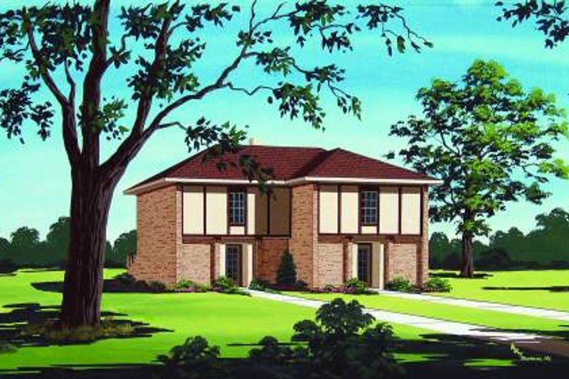 Traditional Exterior - Front Elevation Plan #45-293