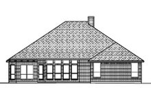 Home Plan - Traditional Exterior - Rear Elevation Plan #84-369
