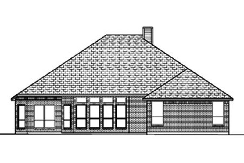 Traditional Exterior - Rear Elevation Plan #84-369 - Houseplans.com