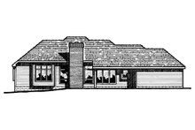 House Plan Design - European Exterior - Rear Elevation Plan #20-103