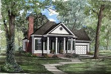 House Plan Design - Southern Exterior - Front Elevation Plan #17-180