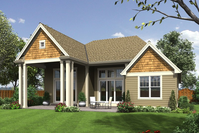 Craftsman Exterior - Rear Elevation Plan #48-662 - Houseplans.com
