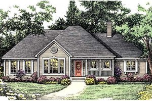 Southern Exterior - Front Elevation Plan #406-231
