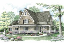 Country Exterior - Front Elevation Plan #1002-15