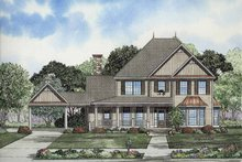 Colonial Exterior - Front Elevation Plan #17-2859