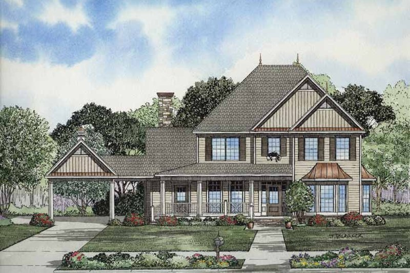 Dream House Plan - Colonial Exterior - Front Elevation Plan #17-2859