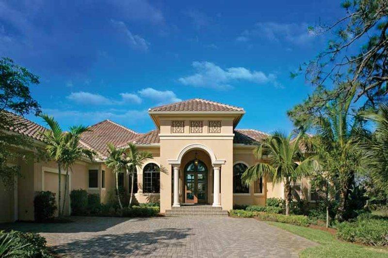 Architectural House Design - Mediterranean Exterior - Front Elevation Plan #930-328