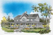 Country Style House Plan - 4 Beds 3.5 Baths 2677 Sq/Ft Plan #929-75 Exterior - Front Elevation