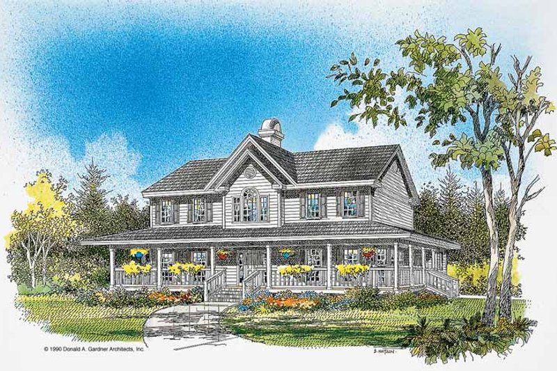Country Exterior - Front Elevation Plan #929-75 - Houseplans.com