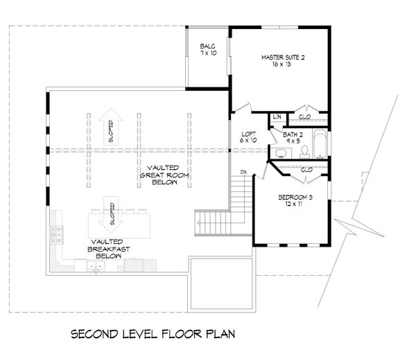 Country Floor Plan - Upper Floor Plan Plan #932-68
