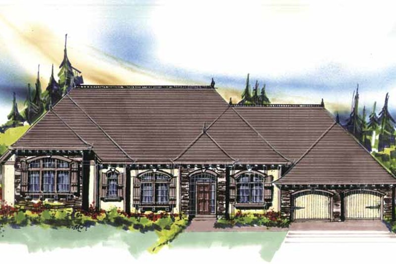 Traditional Exterior - Front Elevation Plan #509-318