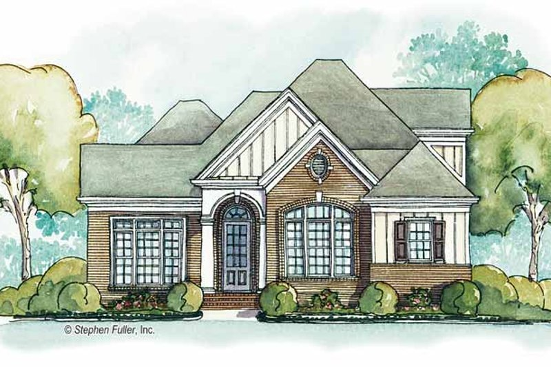 Country Exterior - Front Elevation Plan #429-383