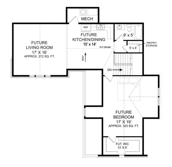 European Floor Plan - Other Floor Plan Plan #119-420