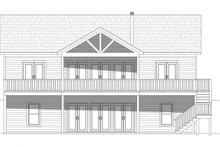 Cabin Exterior - Rear Elevation Plan #932-57