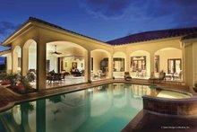 House Plan Design - Mediterranean Exterior - Rear Elevation Plan #930-421