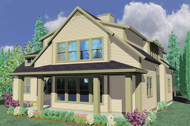 Traditional Exterior - Front Elevation Plan #509-269 - Houseplans.com
