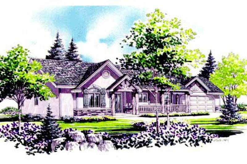 Country Exterior - Front Elevation Plan #308-292