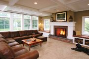 Colonial Style House Plan - 4 Beds 3.5 Baths 3448 Sq/Ft Plan #928-97 Interior - Family Room