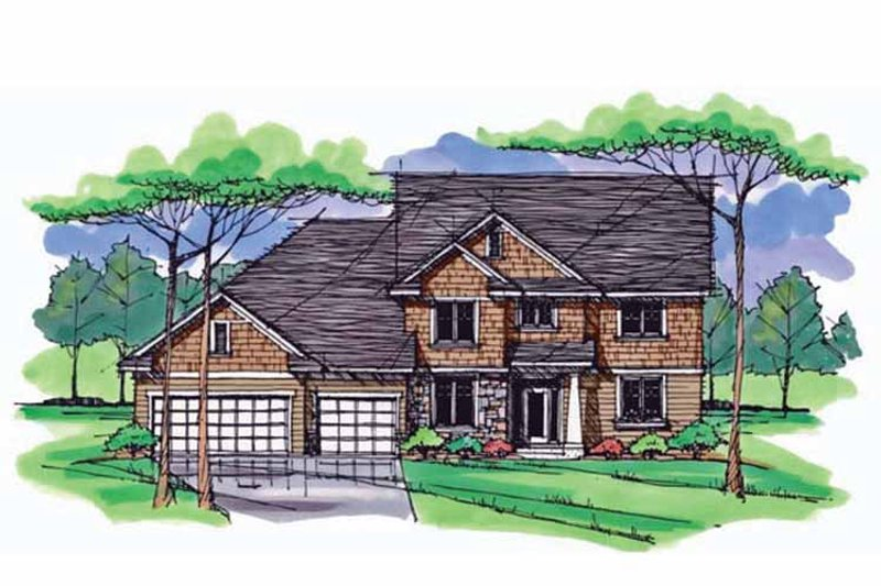 Colonial Exterior - Front Elevation Plan #51-1019