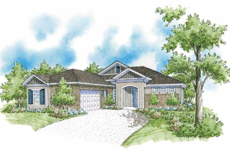 Country Exterior - Front Elevation Plan #930-371