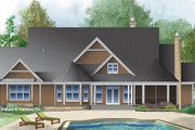 Craftsman Style House Plan - 4 Beds 3 Baths 2557 Sq/Ft Plan #929-997 Exterior - Rear Elevation