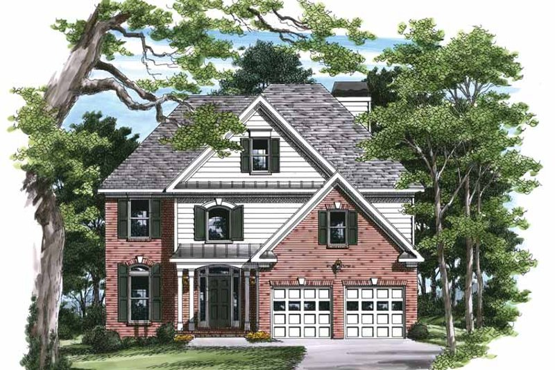 Colonial Exterior - Front Elevation Plan #927-227