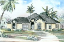House Plan Design - Mediterranean Exterior - Front Elevation Plan #17-1132