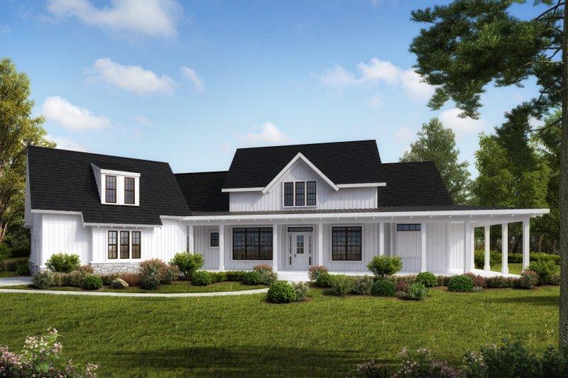 Dream House Plan - Farmhouse Exterior - Front Elevation Plan #54-390