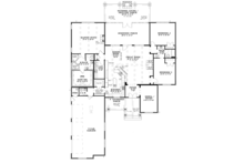 Ranch Floor Plan - Main Floor Plan Plan #17-3367