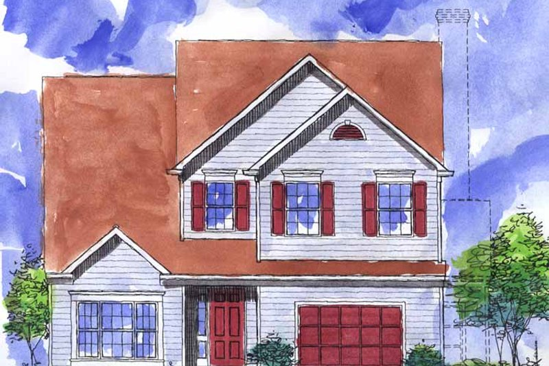 Colonial Exterior - Front Elevation Plan #320-907