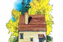 Craftsman Exterior - Rear Elevation Plan #1016-66