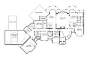 European Style House Plan - 7 Beds 5.5 Baths 9235 Sq/Ft Plan #920-63 Floor Plan - Lower Floor Plan