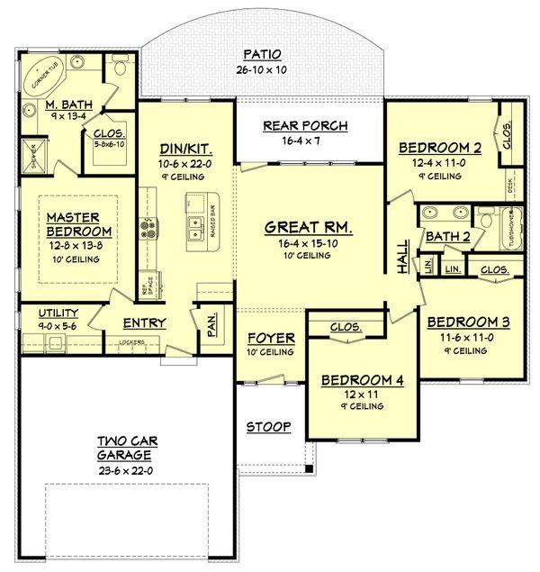 Ranch Floor Plan - Main Floor Plan #430-105