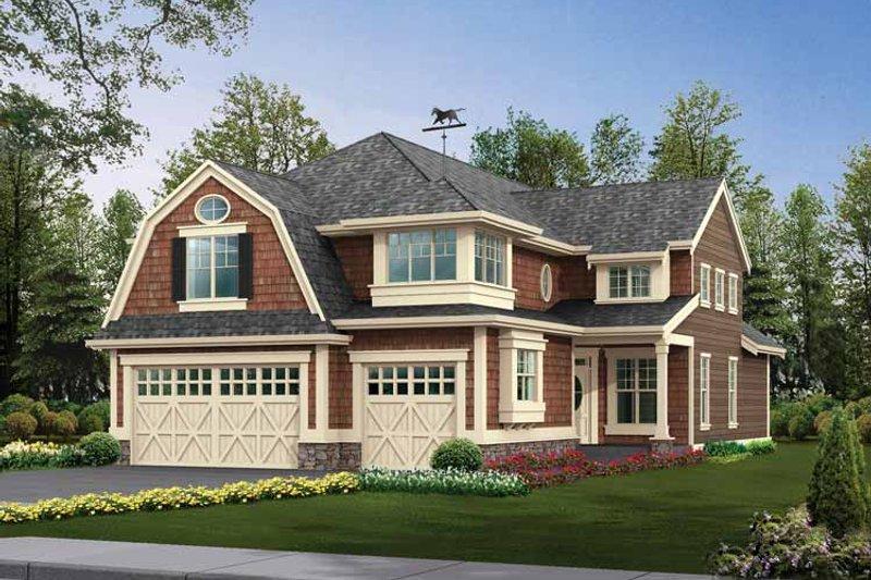 Dream House Plan - Craftsman Exterior - Front Elevation Plan #132-315