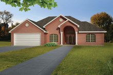 Ranch Exterior - Front Elevation Plan #1061-14