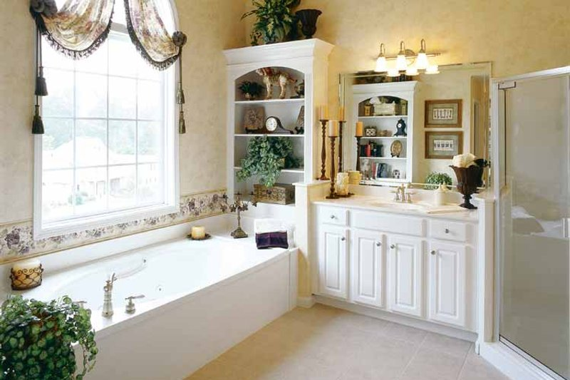 Mediterranean Interior - Master Bathroom Plan #927-141 - Houseplans.com