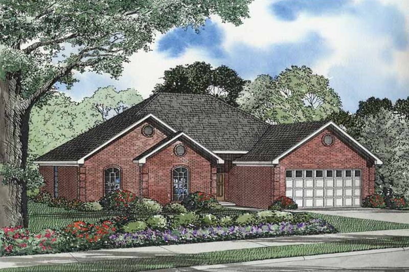 Ranch Exterior - Front Elevation Plan #17-2962