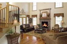 Country Interior - Family Room Plan #929-634