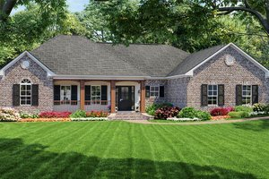 Southern Exterior - Front Elevation Plan #21-126