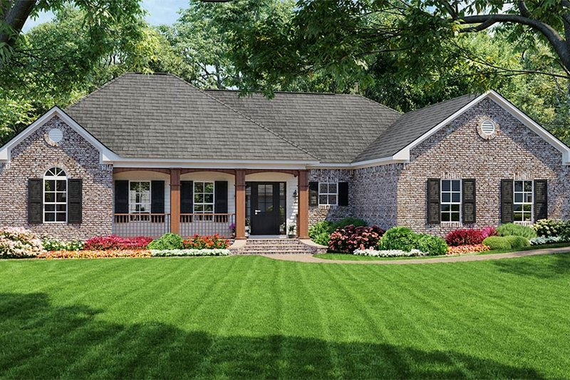 House Plan Design - Southern Exterior - Front Elevation Plan #21-126