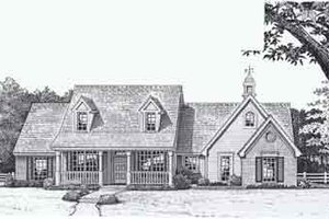 Colonial Exterior - Front Elevation Plan #310-802
